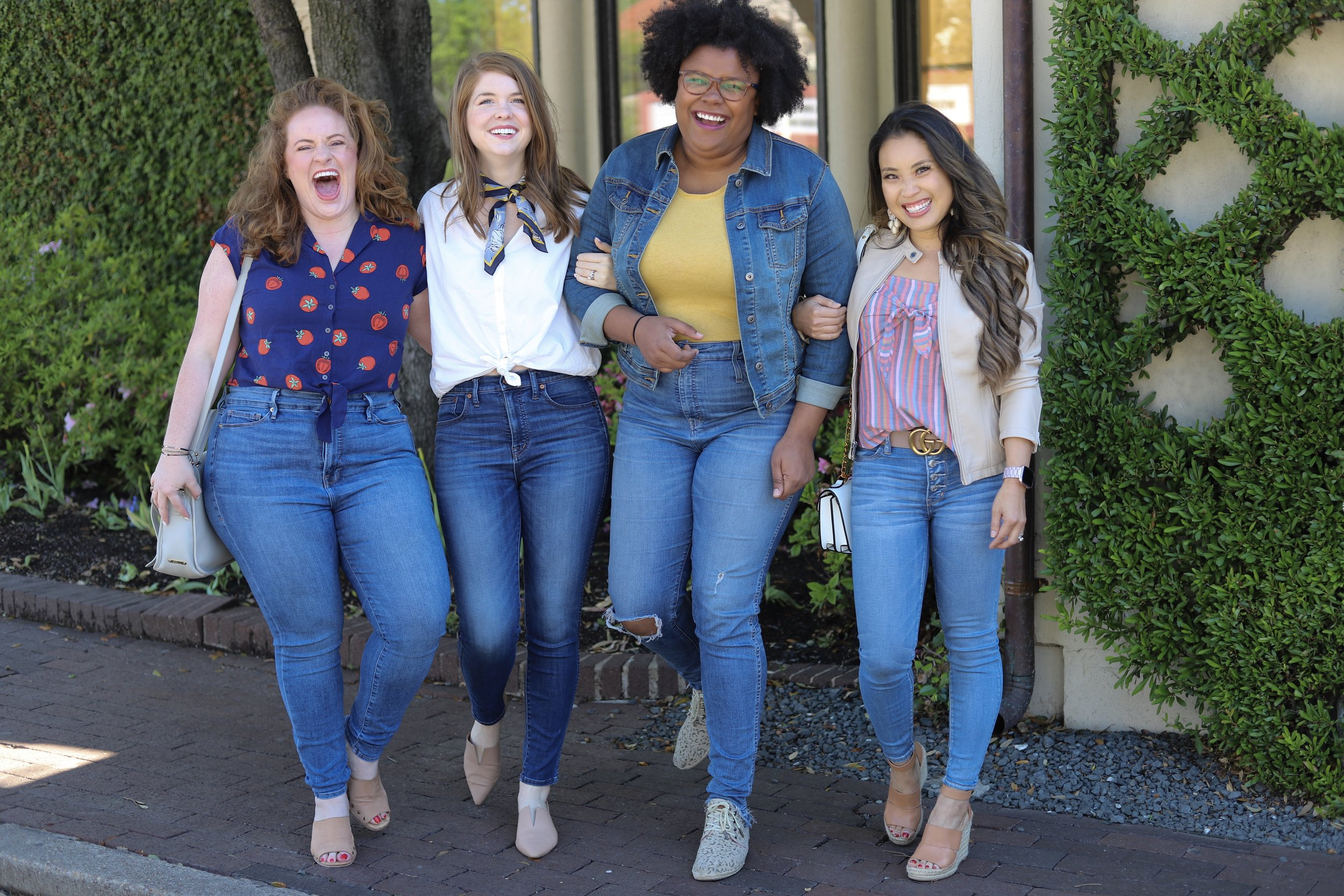 style for every body, petite, plus size, curvy, short, tall, jeans, madewell, good american, american eagle, jeans for every body type, body positivity, lments of style, the healthy curve, the ginger marie blog, cute and little, dallas bloggers