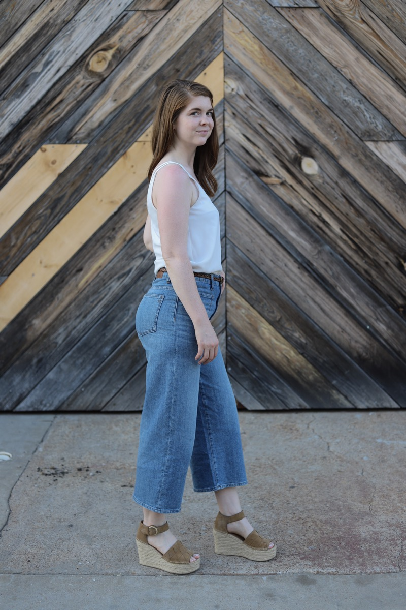 madewell wide leg crop jeans, marc fisher adalla wedges, fair trade  certified, eco-friendly companies, denim, lments of style, ellemulenos
