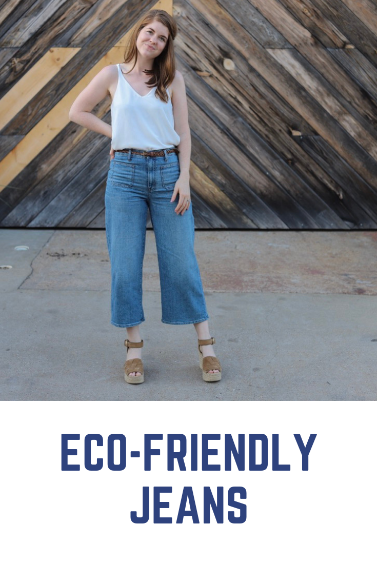 madewell wide leg crop jeans, marc fisher adalla wedges, fair trade  certified, eco-friendly companies, denim, lments of style, ellemulenos, sustainable denim, eco-friendly jeans