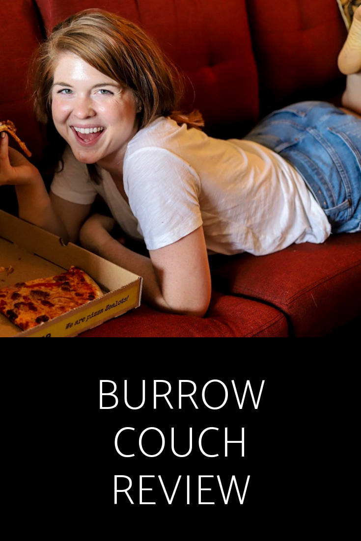 why we bought a burrow couch, burrow sofa review, nomad fabric, nontoxic couch, without flame retardant, zalat pizza