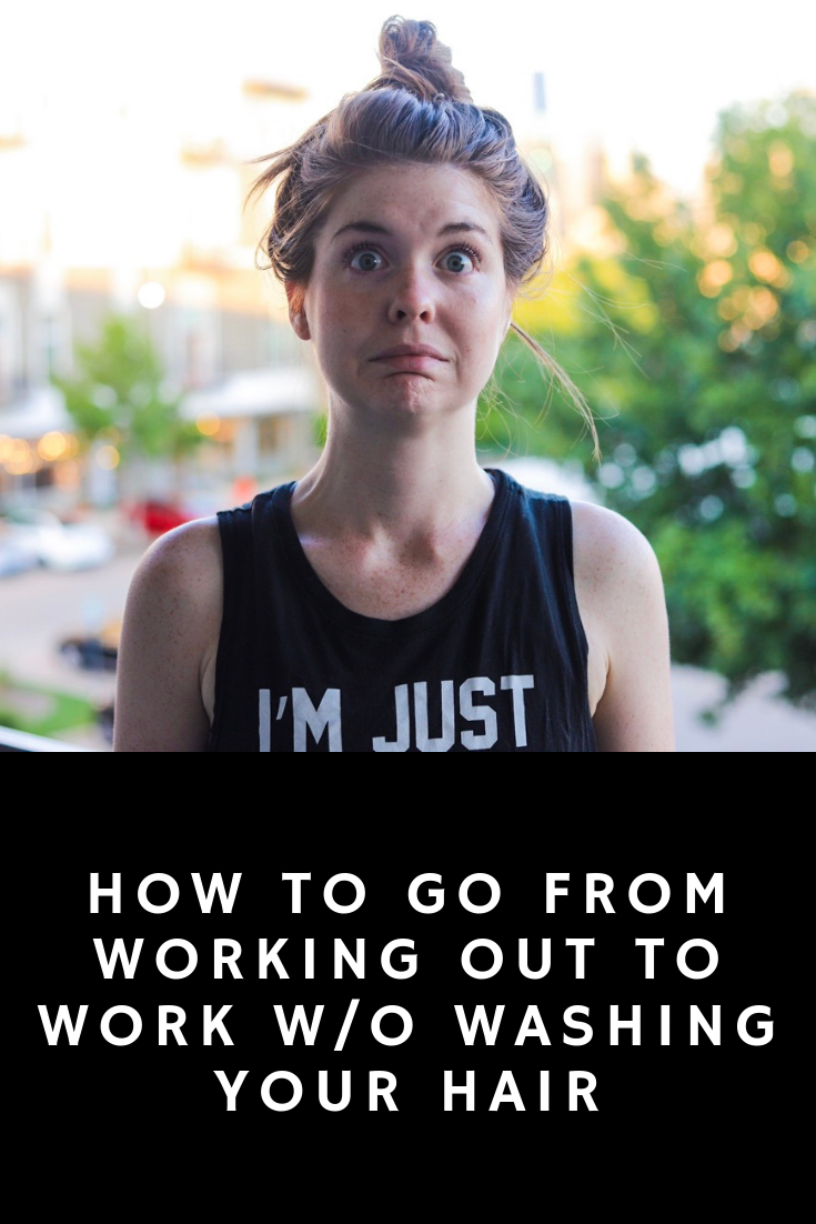 how to go from working out to work without washing your hair, hair tips, lments of style, girls who workout, wash your hair less, ellemulenos, women in the workplace, witw