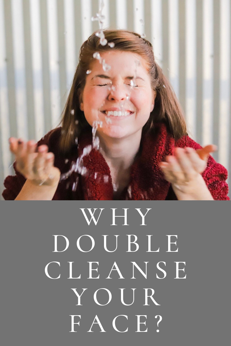 why double cleanse your face, skincare tips, primally pure cleansing oil, cocokind oil to milk cleanser, fuzzy robe