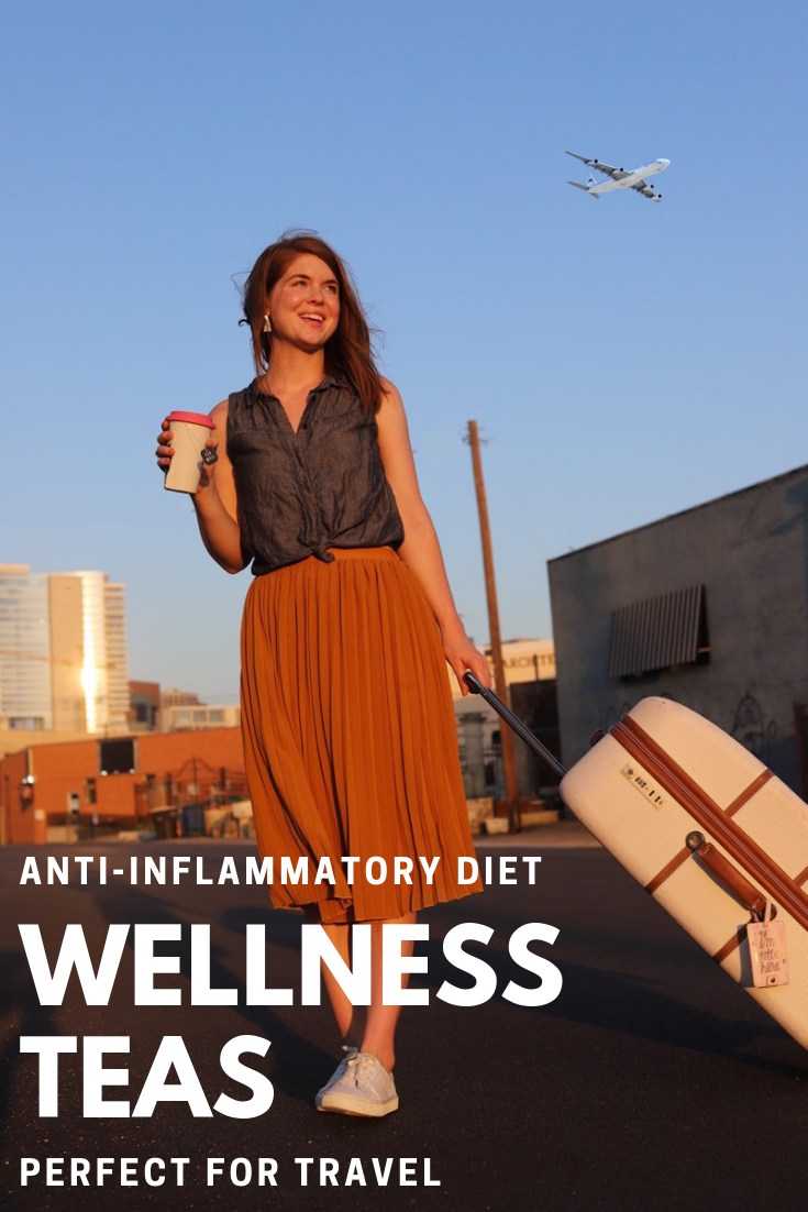 easy anti-inflammatory diet on the go ft. celestial seasonings teawell organic daily wellness teas, turmeric tea, matcha green tea, lments of style, ellemulenos