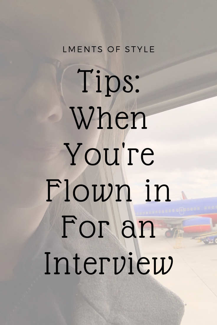 tips for when you're flown in for an interview, 25 hours in baltimore, maryland, being flown in for an interview, interview tips, lments of style, women in the workplace, day trip to maryland