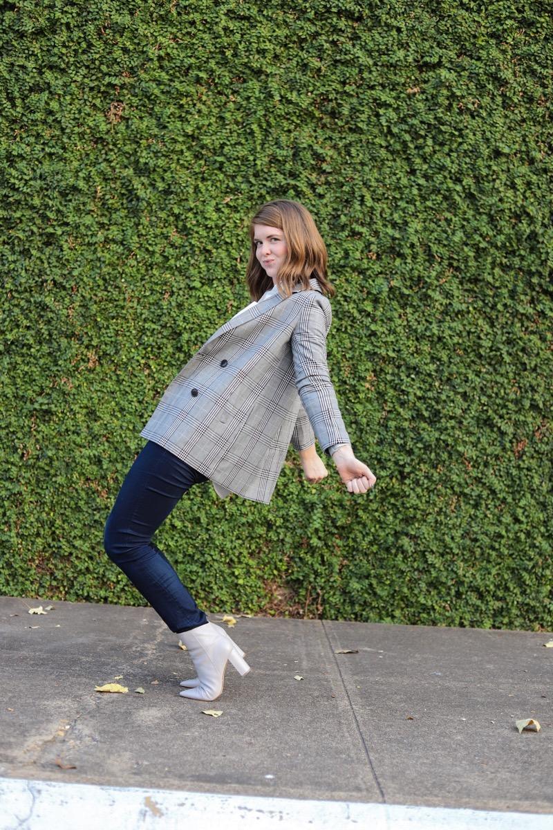 how to style a blazer, the art of versatility, blazer styled 3 ways, madewell caldwell blazer, lments of style, ellemulenos, blazer for work, women in the workplace, witw