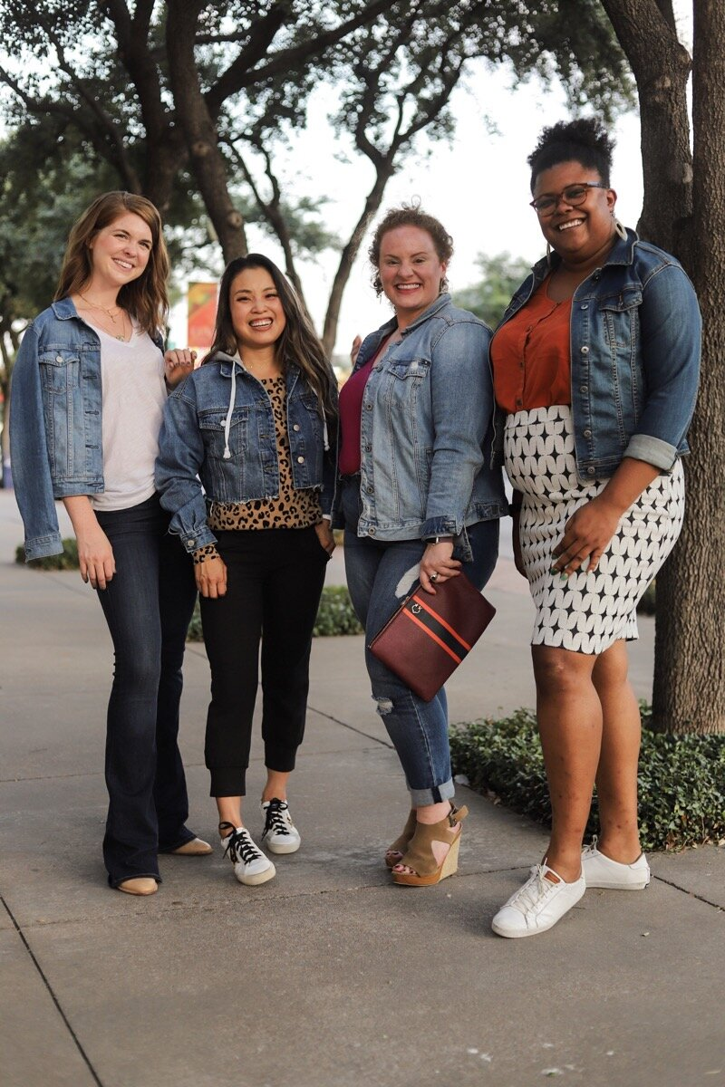 style for every body denim jacket edition, lments of style, cute and little, the healthy curve, the ginger marie blog, body positivity, body posi, ellemulenos