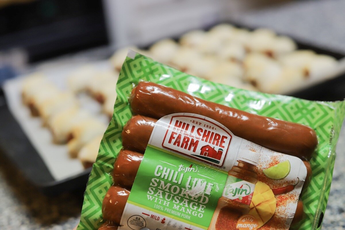 not your dad's pigs in a blanket recipe, lments of style hillshire farm tajin chili lime smoked sausage, albertson's coupon