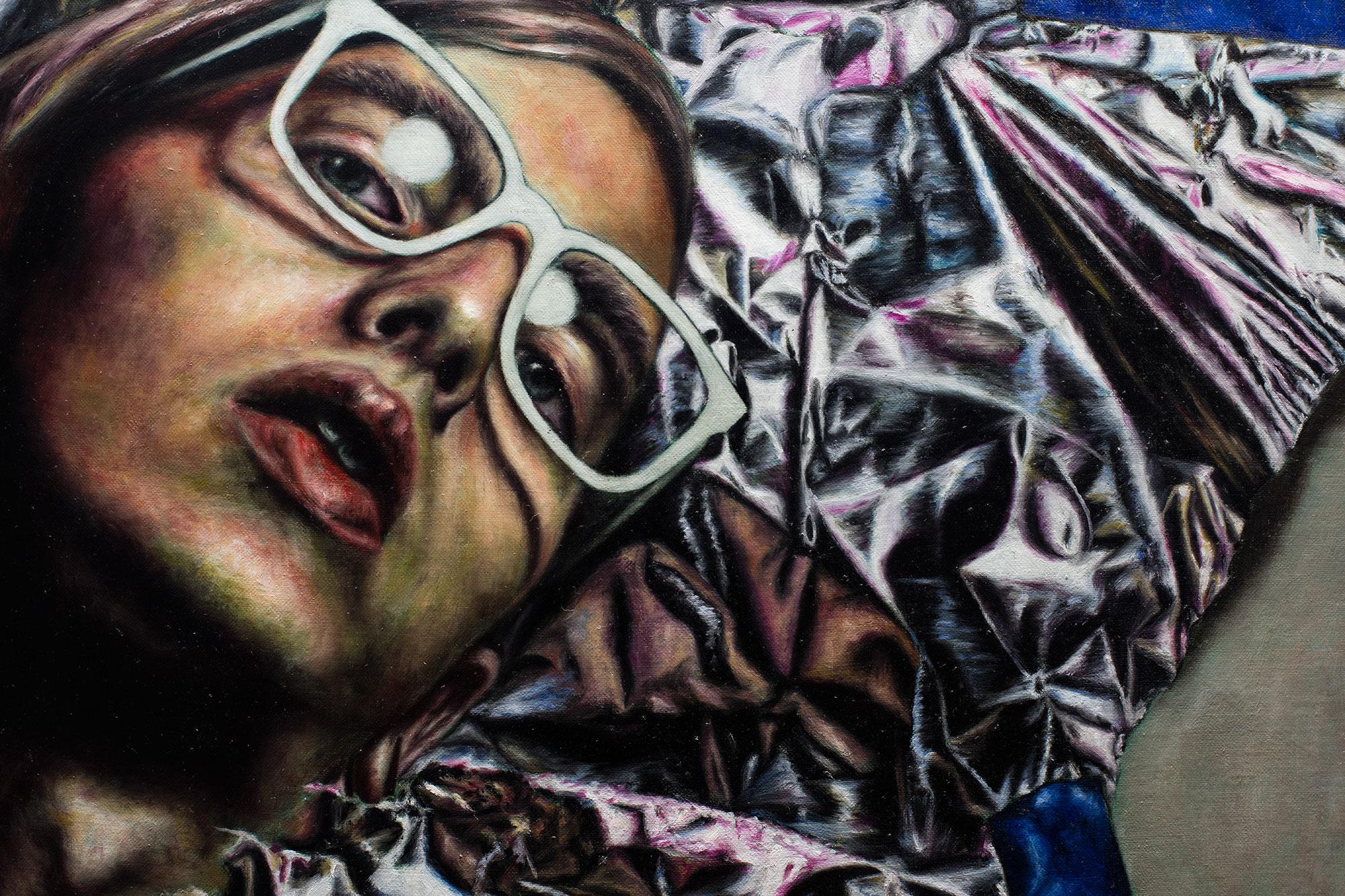 Artist losing himself (detail)