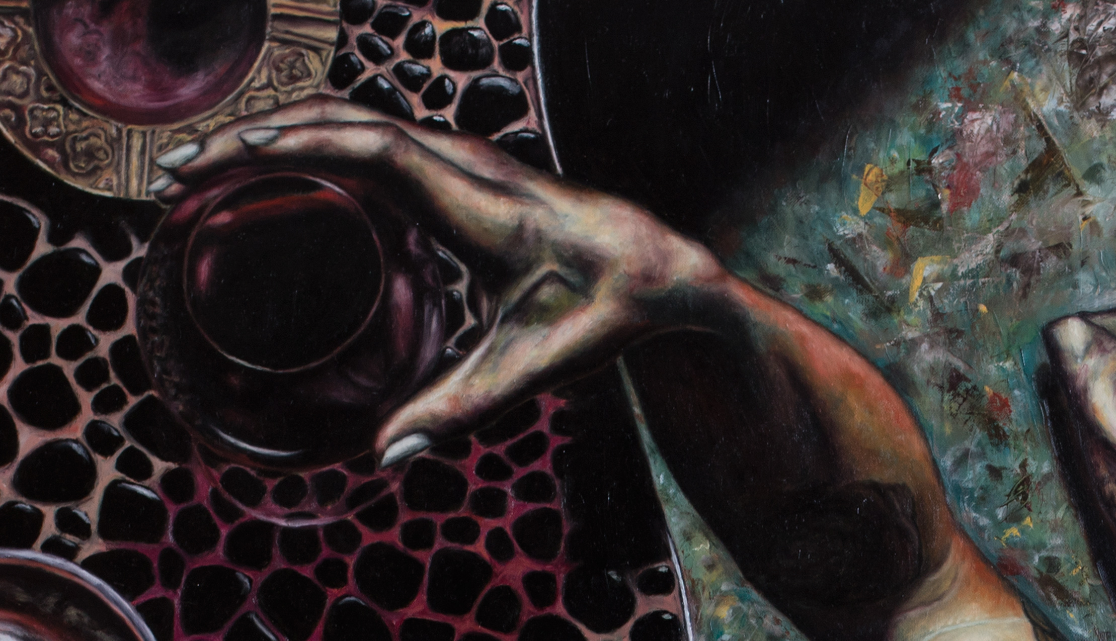 Self portrait as hedonist (detail)