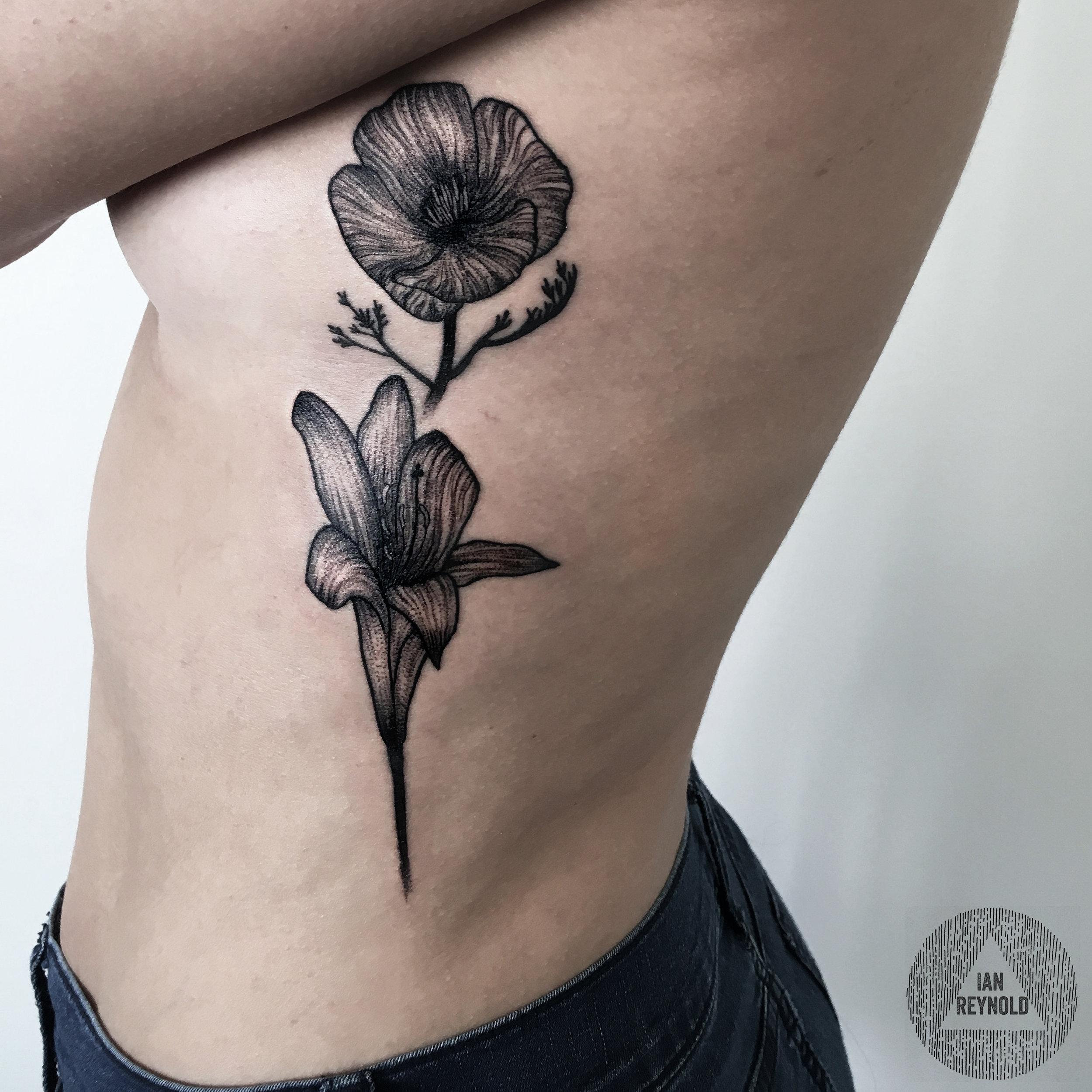 naked lady + California poppy