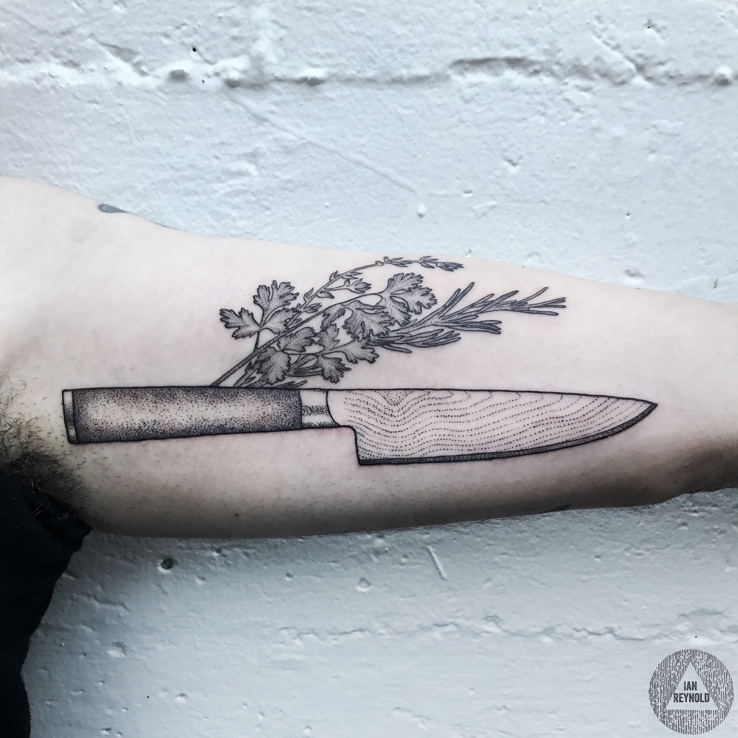 Chef's Knife - Parsley - Thyme - Rosemary