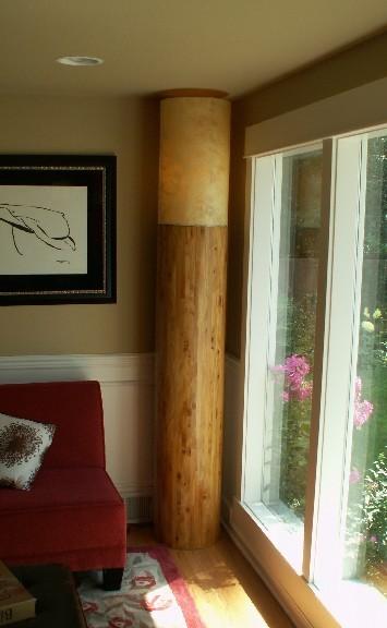 Golden Spruce  floor lamp