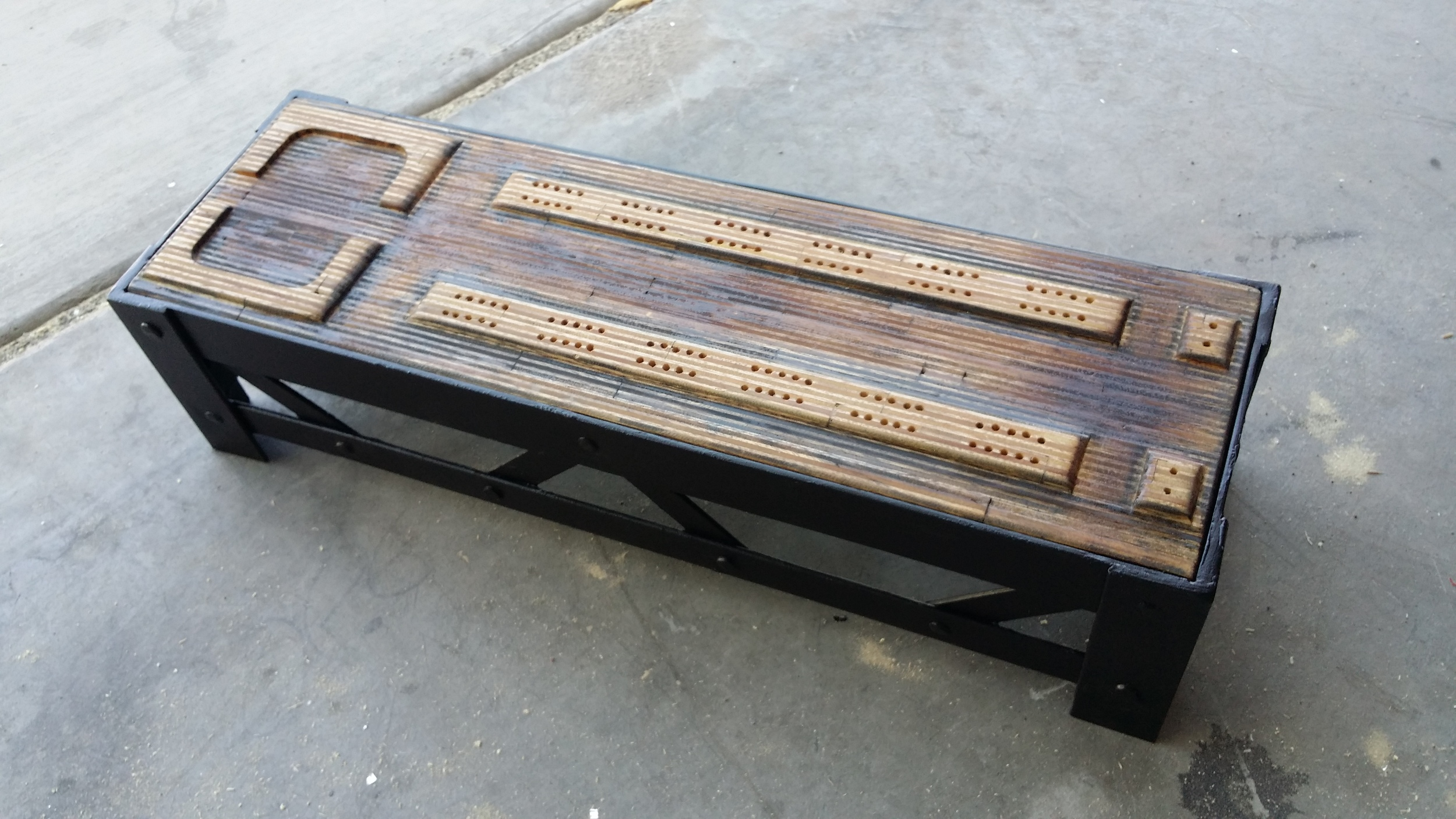 The Brooklyn Board Custom Built Themed Cribbage Board by The Fabricator  (13).jpg