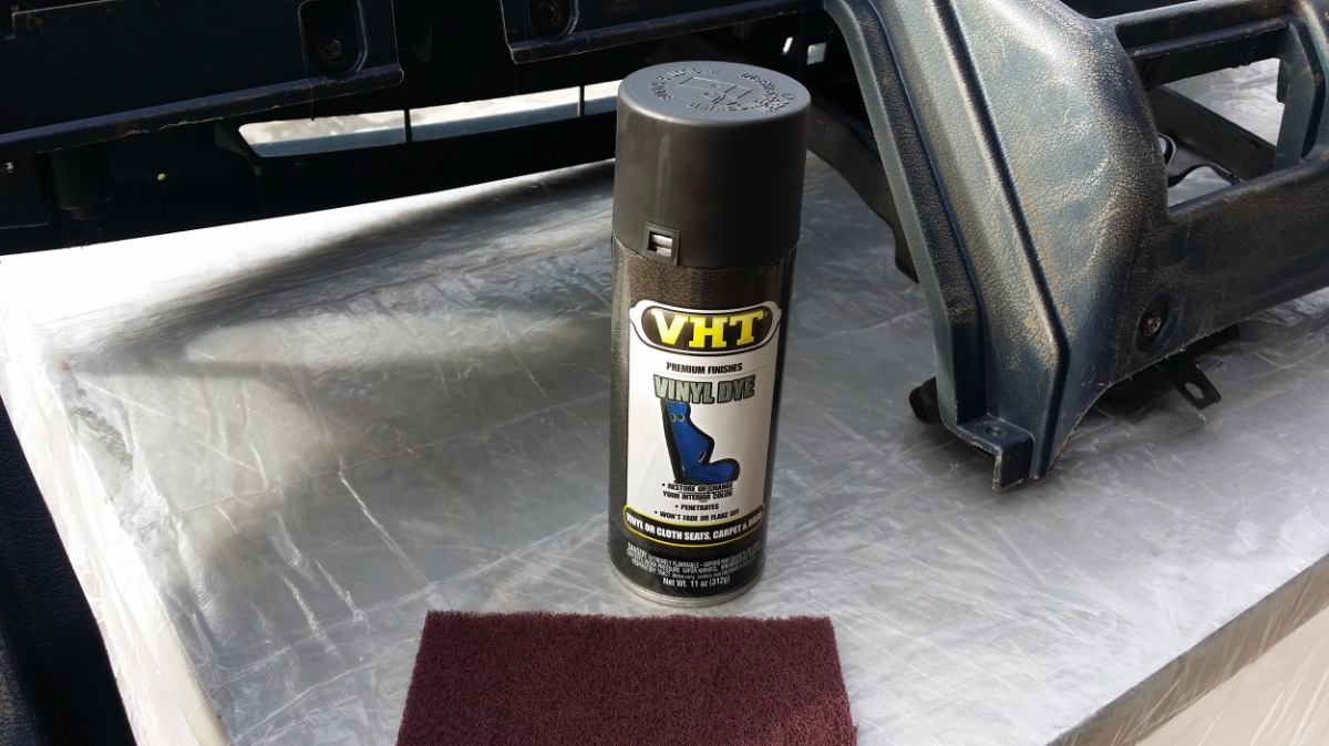 The dye used is none other than VHT Vinyl Dye.