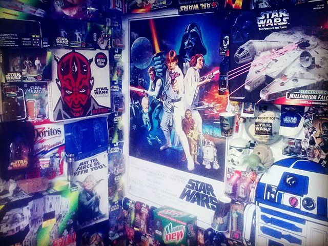 #throwbackthursday  @irrational_solutions #maythefourthbewithyou #collageart #studio #outsiderart #obsession #starwars #maytheforcebewithyou #maythe4thbewithyou #starwarscollector