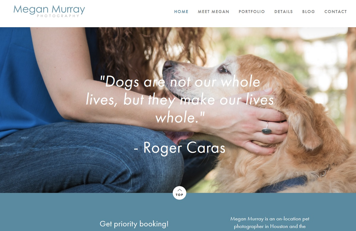 houston pet photographer website