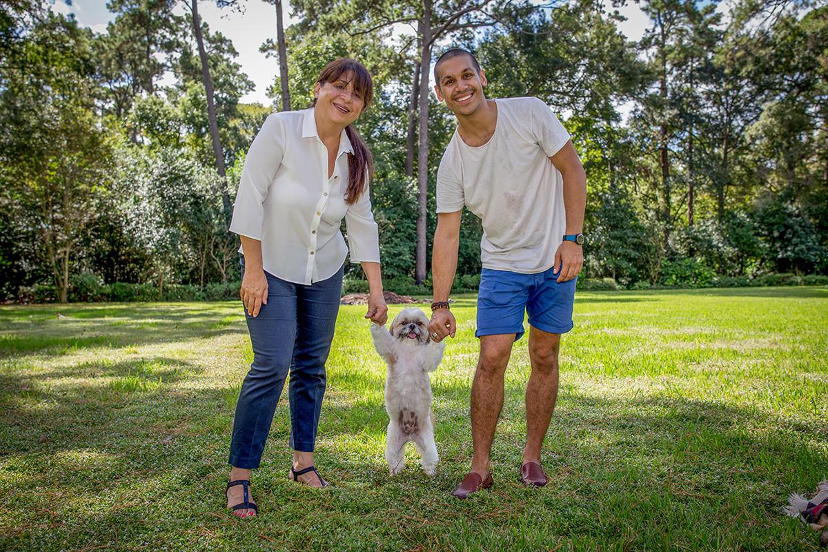 Mom, Iman, & Baxter (photo credit: John Tran)