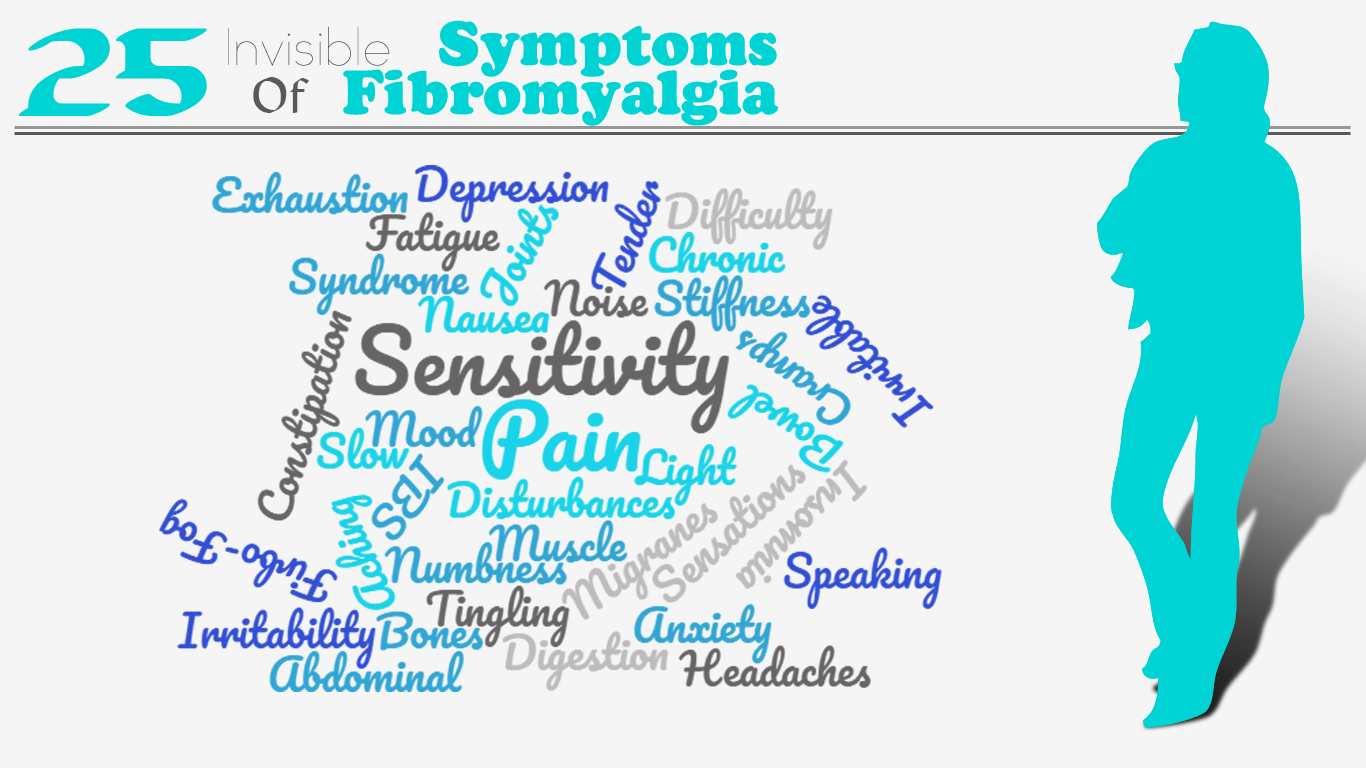 25 Invisible Symptoms of Fibromyalgia. Physical therapy can treat or help with ehaustion, depression, fatigue, constipation, depression, pain, numbness, tingling, headaches, and other symptoms of fibromyalgia.