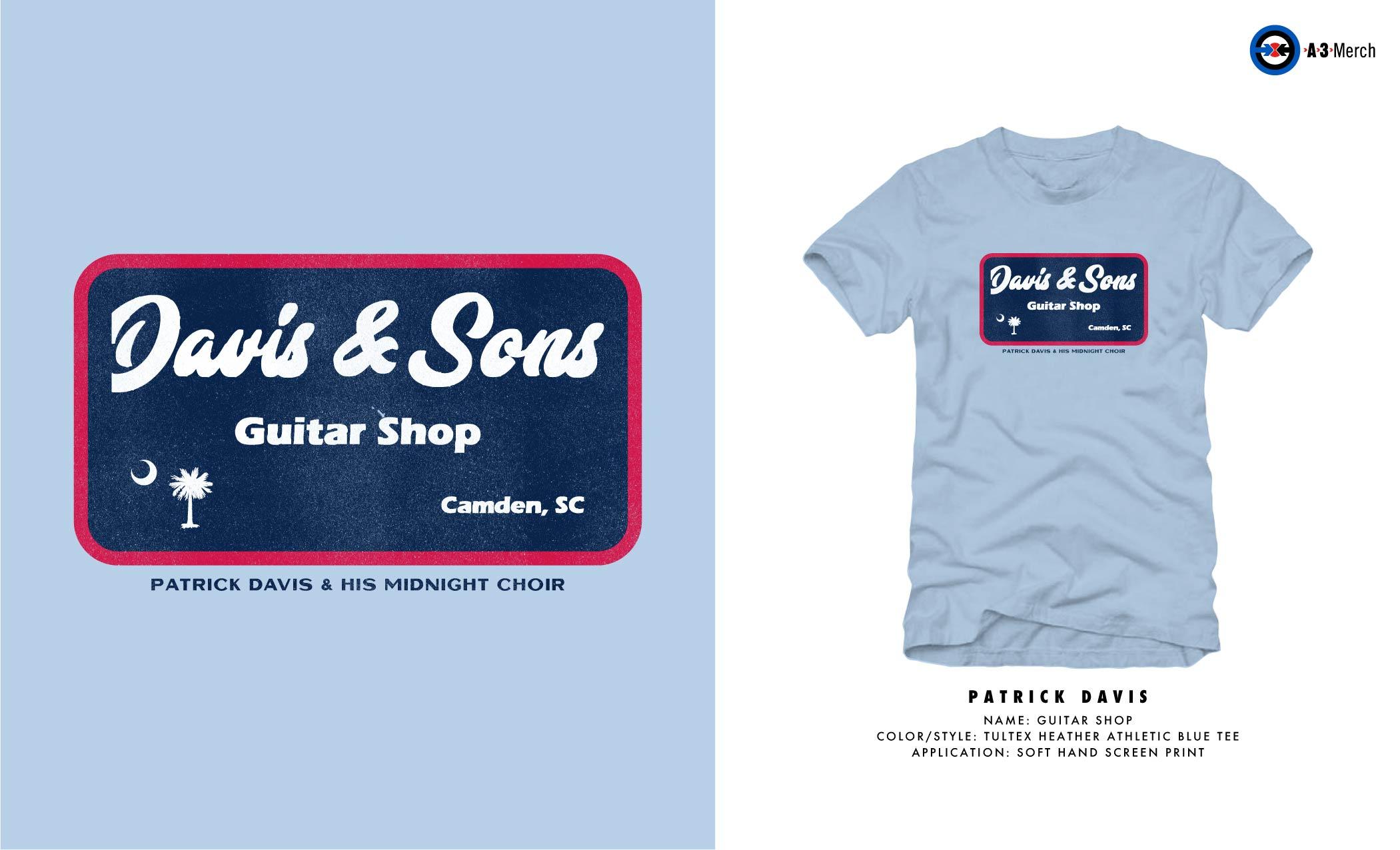 DAVIS & SONS Guitar Shop Tee