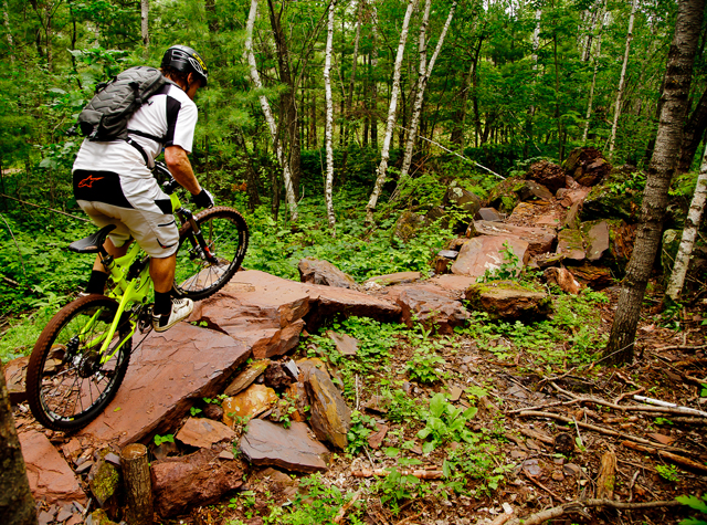 The mining industry's trash is a mountain biker's treasure.   (Photo by Hansi Johnson)