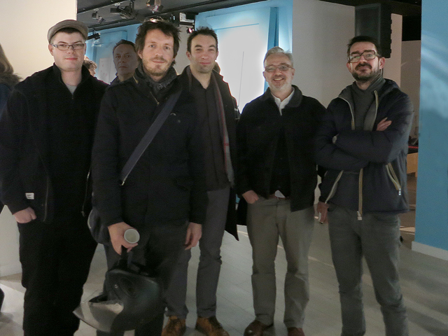 Laurent DuVoux (second from right) and Éric Thomé (far right) of We Are Ted
