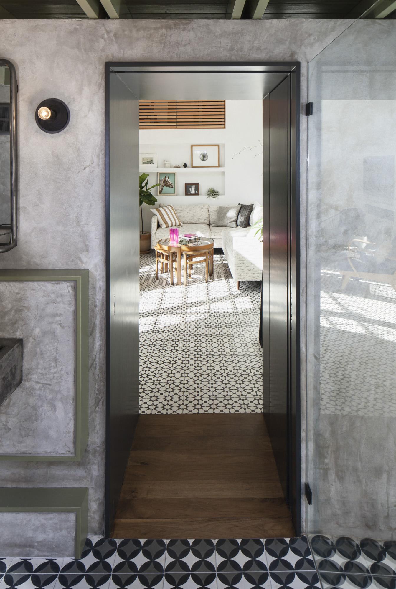 Elizabeth-Baird-Architecture-Garner Pool and Casita- bathroom to livingroom.jpg