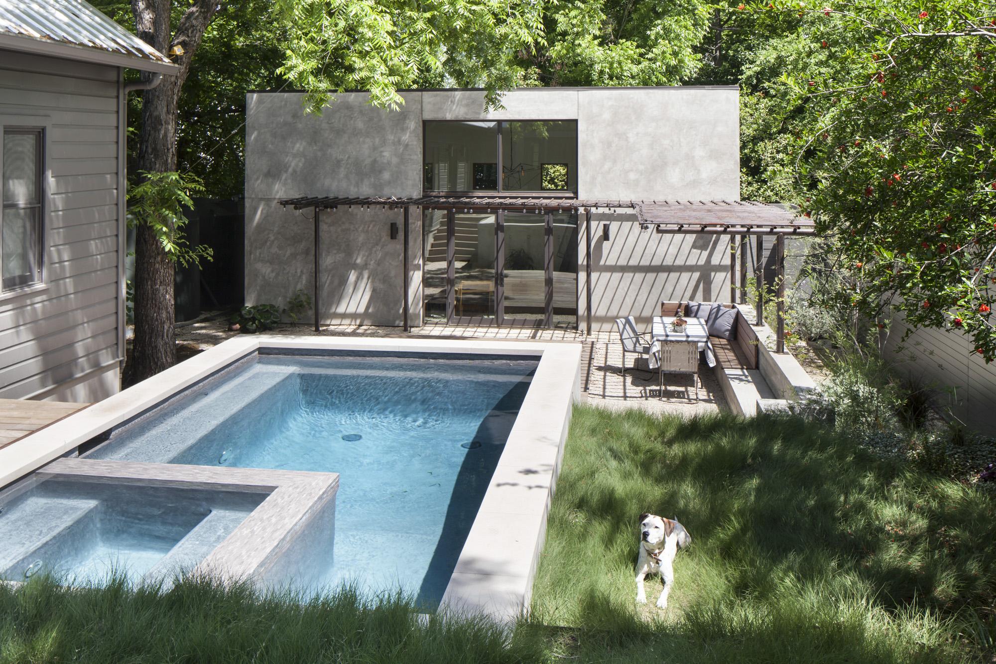 Elizabeth-Baird-Architecture-Garner Pool and Casita- casita lawn and pool.jpg