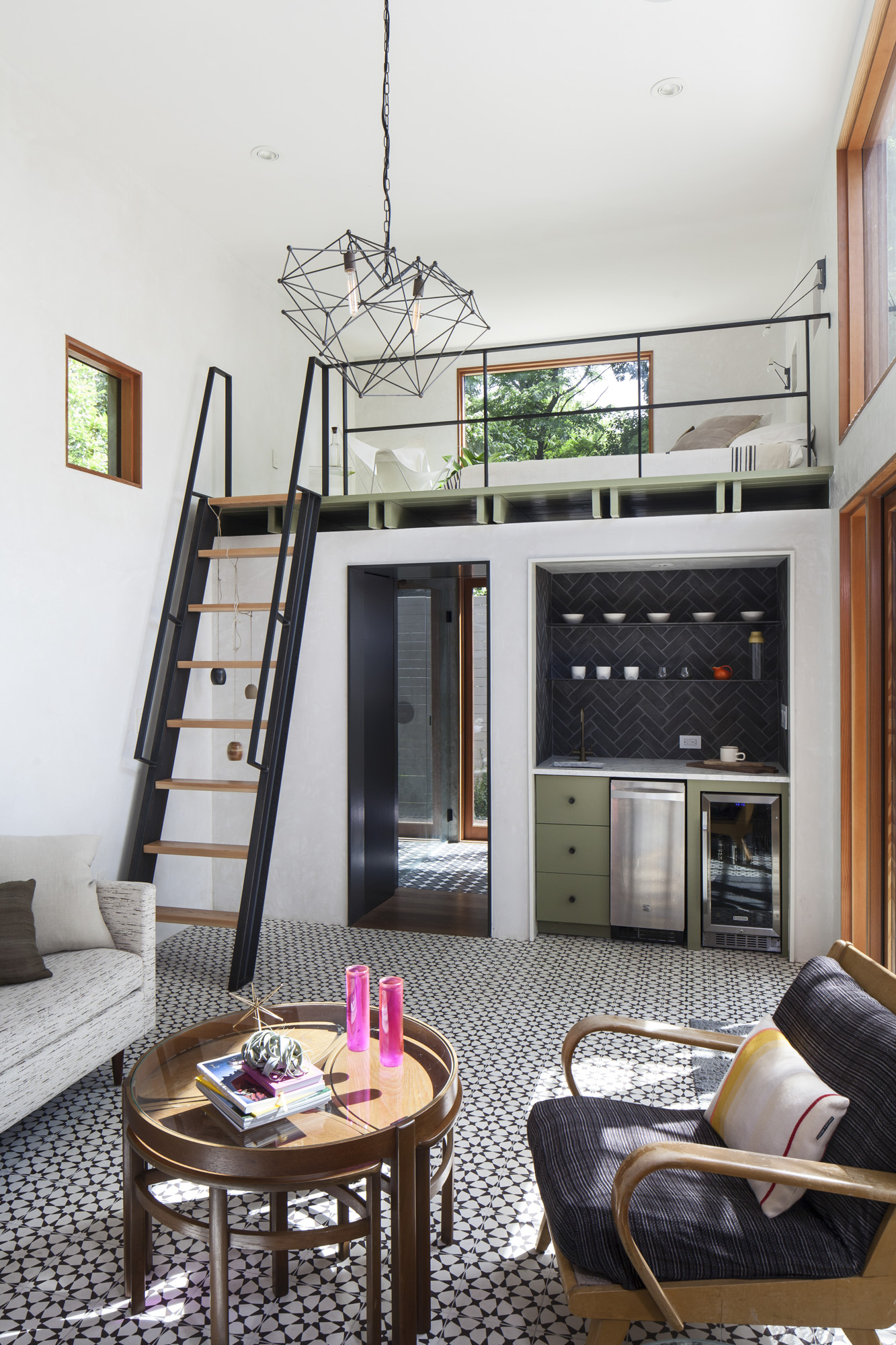 Elizabeth-Baird-Architecture-Garner Pool and Casita- casita living room and loft.jpg