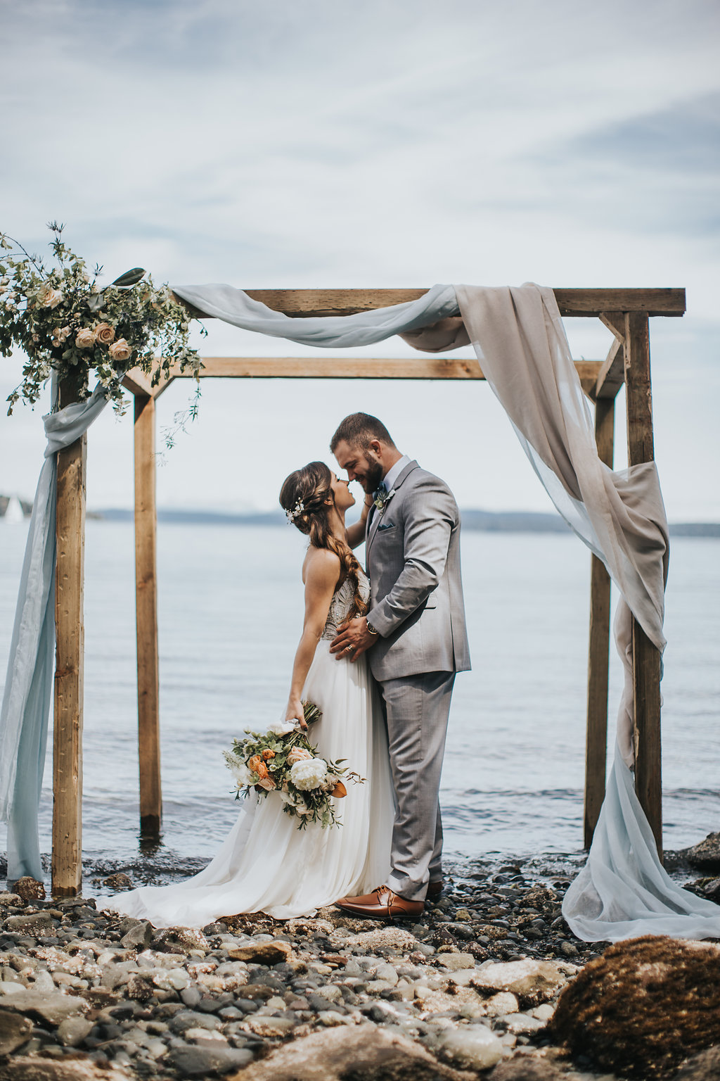 D + R - Private Oceanfront Wedding in Chemainus, Vancouver Island