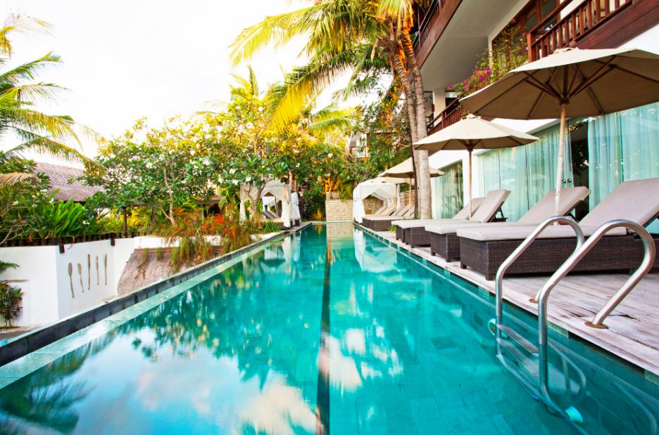The pool area Batu Karang Resort
