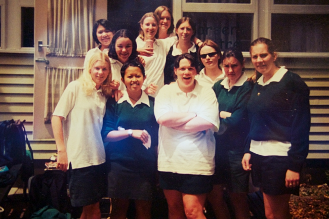 Some of my friends at Whakatane High School in 2000, I've managed to keep in touch with all but two of the girls in this photo. My friend Michelle is the blonde one to my left.