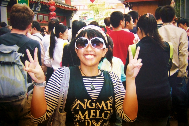 Beijing, China in 2007. I was all polka-dot and stripes everything back then....