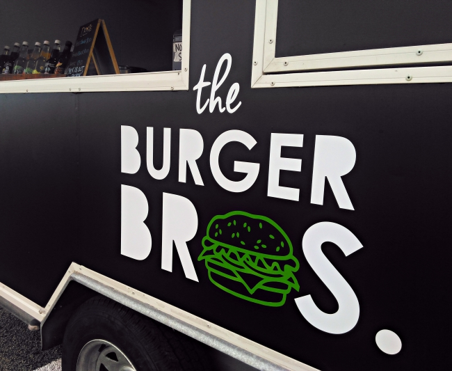 Look out for their distinctive black food truck - let the bros cook you dinner tonight.