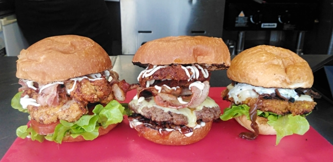 From left to right: Fried Chicken, BBQ Dream and Sweetpea 2.0