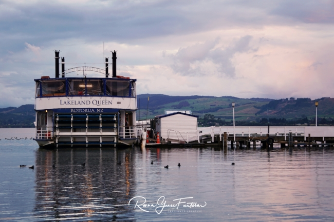 The sun was setting when I took this photo on my Sony A6000 -the water was so beautiful. There were plenty of people around, but the scene looked so peaceful, I was glad to have captured that moment. I had lunch on  The Lakeland Queen  way back in 2011, you can find out more about this historic boat from their website.