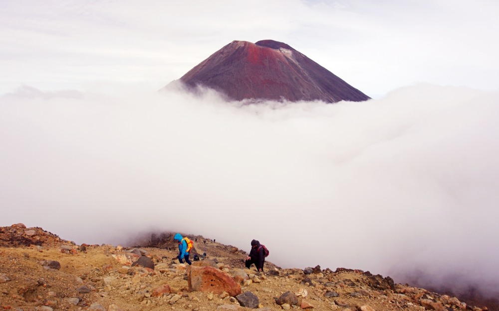 Don't skip leg day, and your legs will thank you for it as you head up this hill towards the Red Crater.
