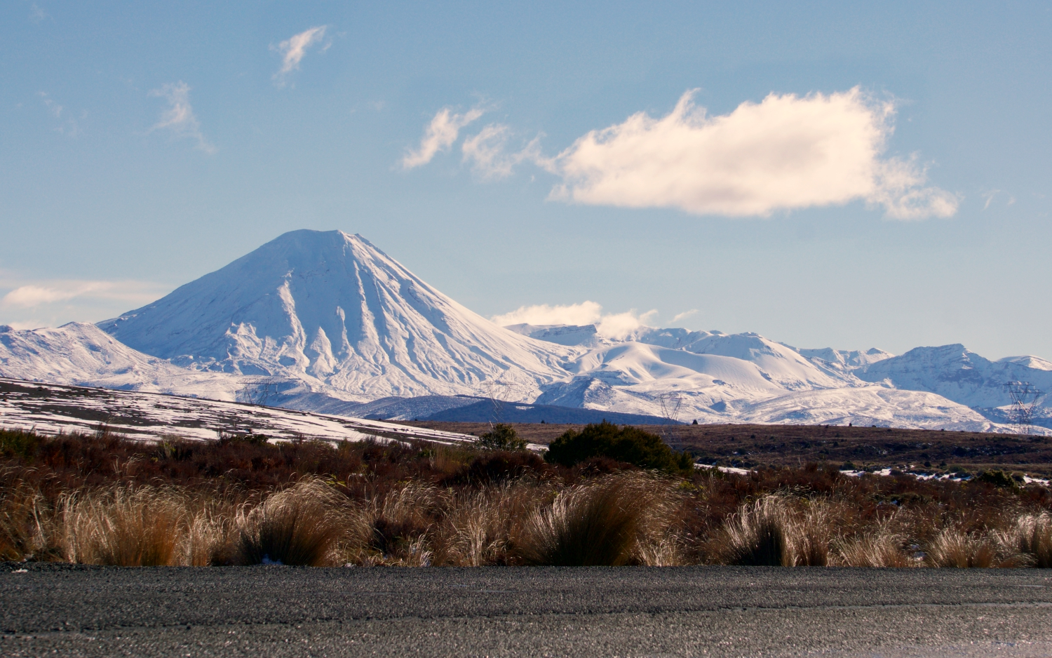 A view of Tongariro from the Desert Road.
