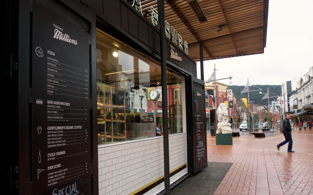With their central location on the corner of Courtney Place and Taranaki Street -Tommy Millions is a great food option from an early lunch to a late night snack.