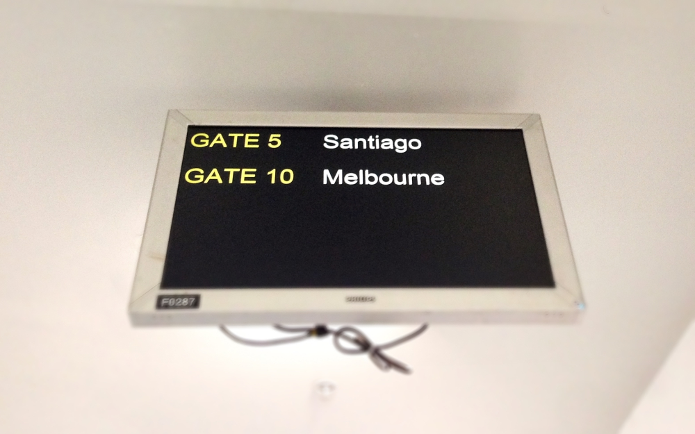 I can now say that I've been to both cities on this screen - though I only saw Santiago from the transit lounge, hopefully I can stay a few days on my way home.