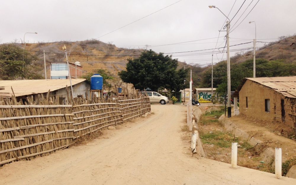 The driveway at the Pinamar Hotel, at the entrance of the road is the Pan-American Highway.
