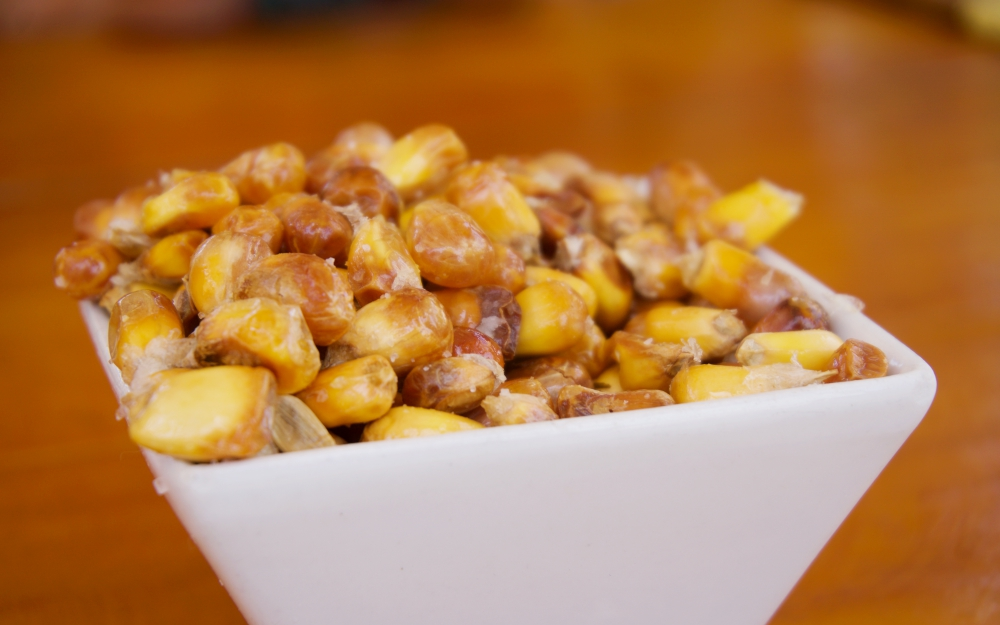 Canchas - traditional, toasted and salted Andean corn kernels often served with most dishes.