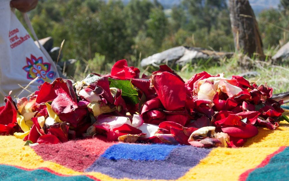 The offering to Pachamama - Mother Earth.