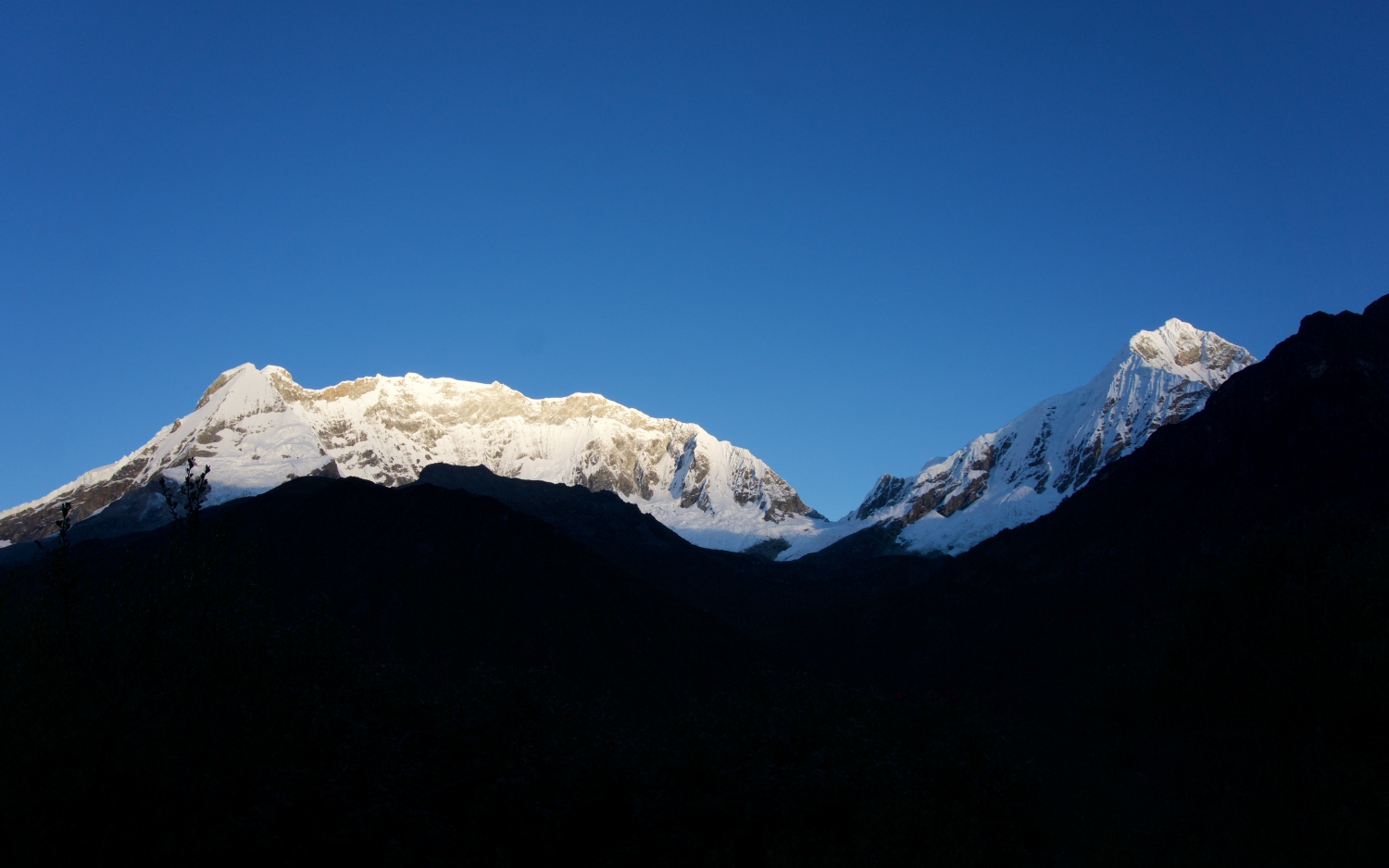Sunrise in the Huascaran National Park.