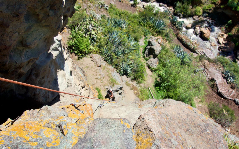 Half-way up my training rock face at Los Olivos.