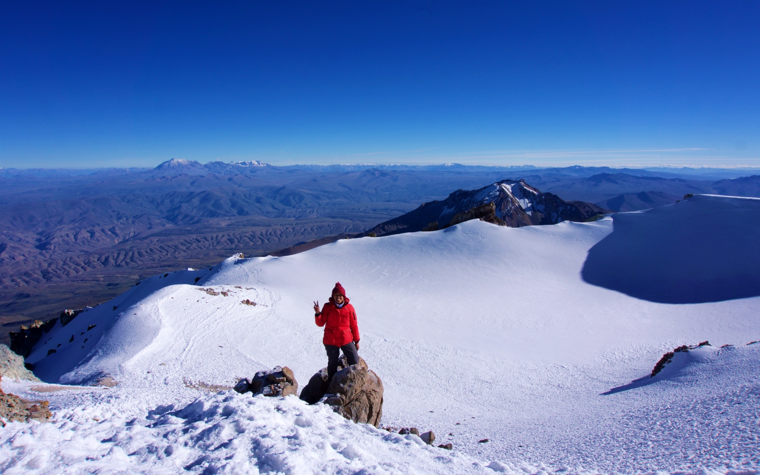 Getting to the summit of Chachani was my hardest climb yet, but the views were definitely worth it!