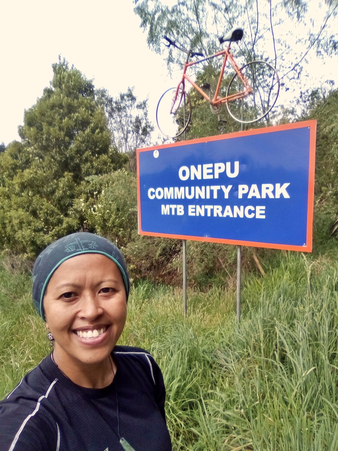 After our ride at the Onepu Community Park I was all smiles.