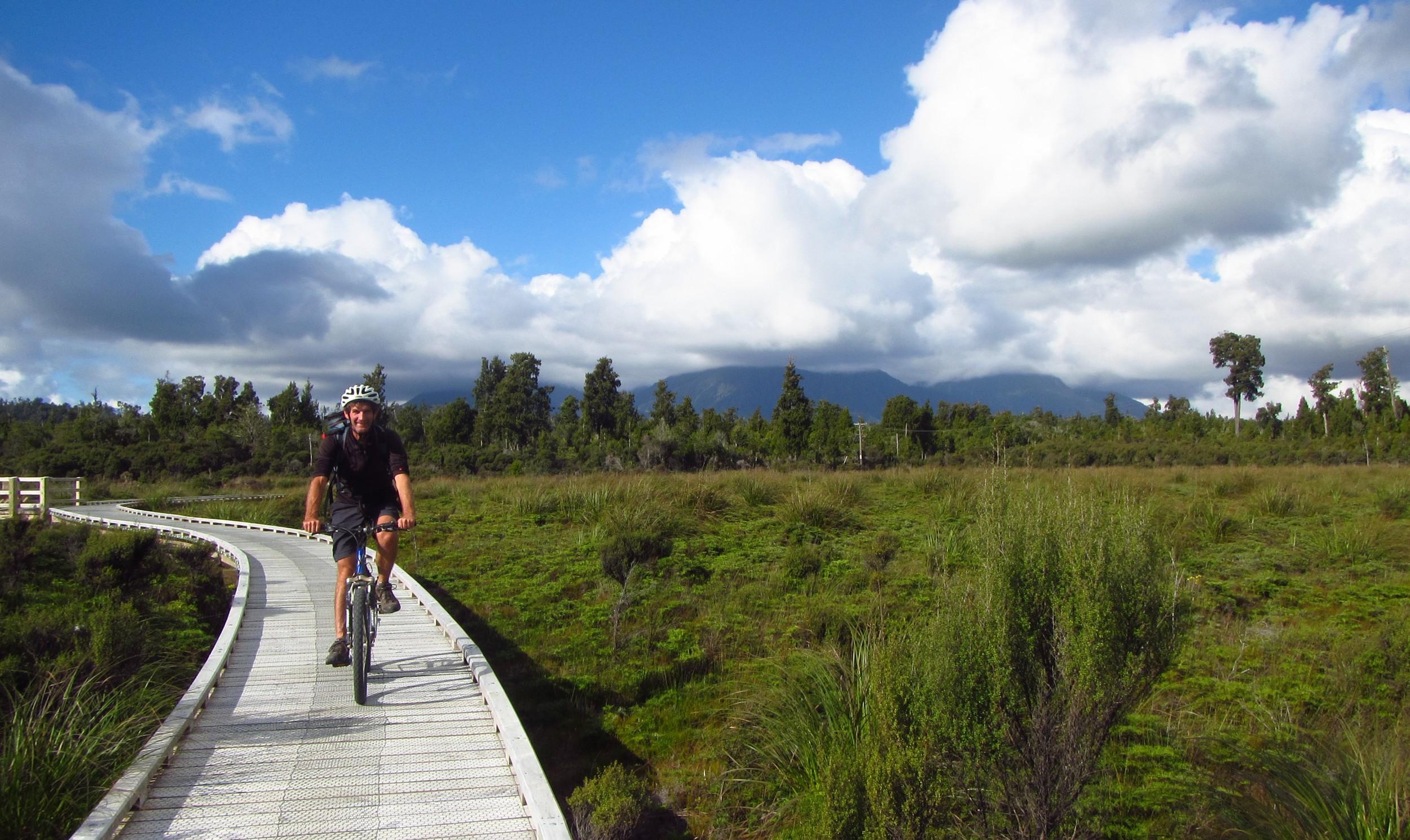 Cycling the Boardwalk (near Kumara)