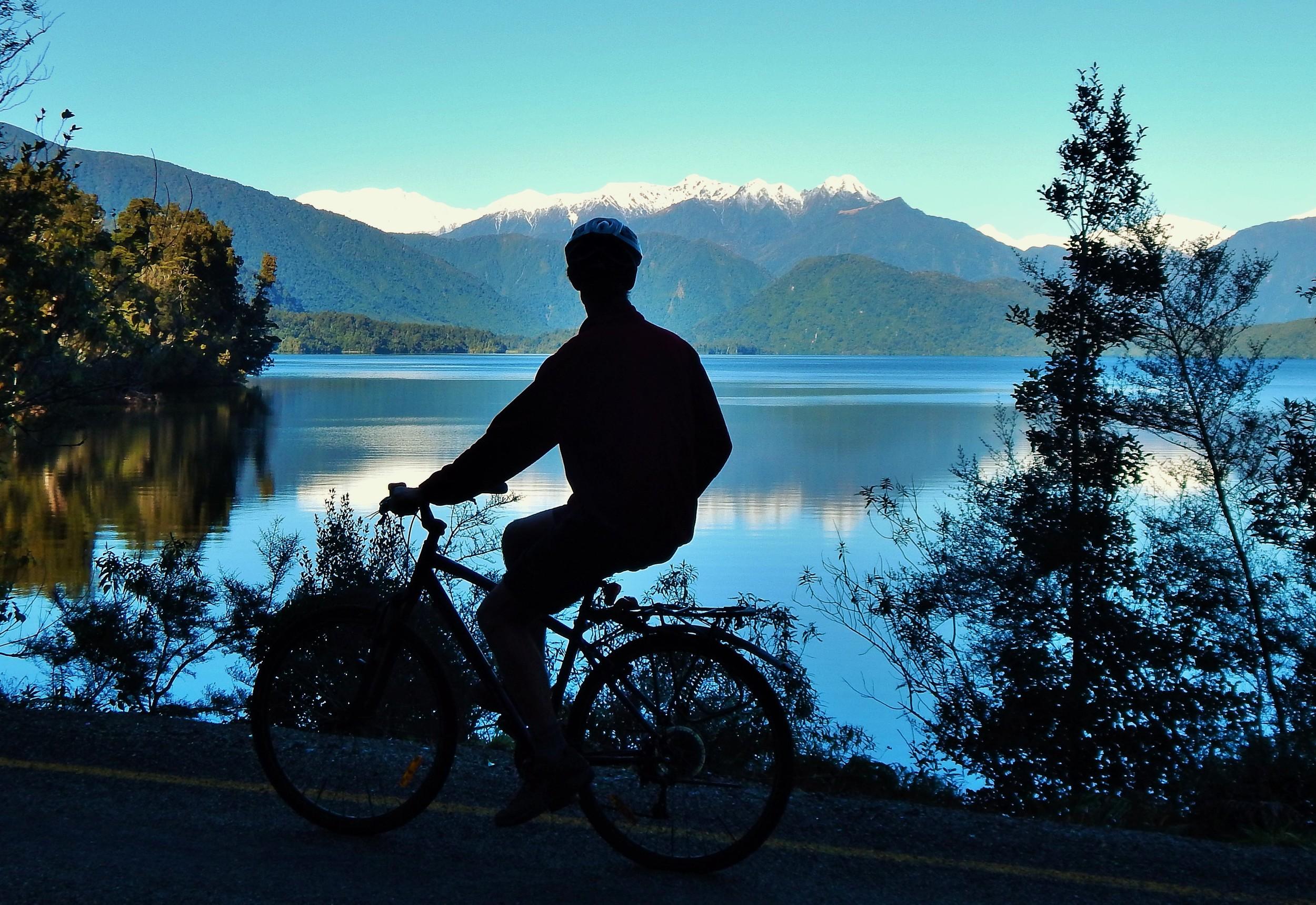 Taking it in at Lake Kaniere