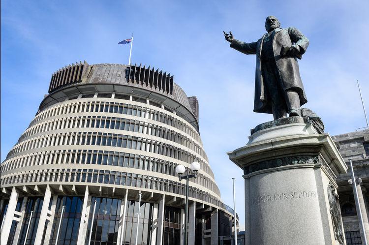 An imposing welcome to Parliament from Kumara's Richard Seddon