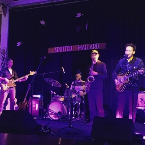 We had a ball at @spottedmallard last Friday supporting @peppercornqueen for her 'Lilith Shrugs' launch. It was especially great to have @reservoirdogsmelbourne up on stage with us too. Photo by Raychel Stone of @fraser.stone.music - who will be supporting us up at @thejunkbar up in Brisbane on Oct 20th - get your tix from the junk bar website and link in bio. Next stop on the Lilith Shrugs roadshow: Sydney on October 4th at @leadbellynewtown - come along!